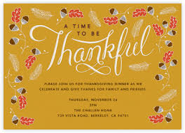thanksgiving invitations at paperless post