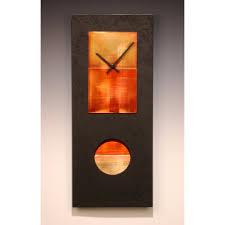 leonie lacouette black and copper pendulum clock artistic artisan