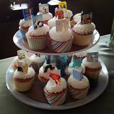 storybook cupcake toppers for book theme baby shower parties