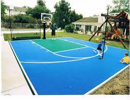 backyards wonderful sport court not exactly diy but still cool