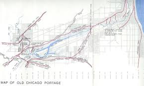 Map Chicago by The Map Of The Chicago Portage Chicago Portage