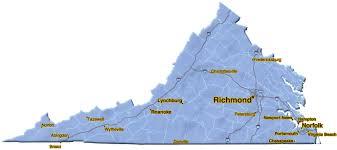 Virginia Regions Map by The Blue Book Building U0026 Construction Network Virginia Region