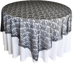 silver lace table overlay black lace table overlays topper wedding