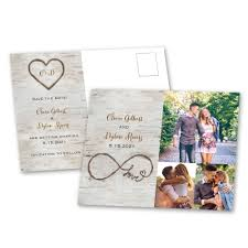 birch beauty save the date postcard s bridal bargains