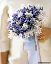 lavender bouquet blue and lavender wedding flowers martha stewart weddings