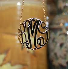 monogram necklaces gold gold monogram necklace big slim be monogrammed