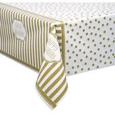 gold polka dot table cover upc 011179495832 golden birthday plastic tablecloth 84 x 54