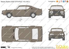 the blueprints com vector drawing nissan skyline 2000 gtr kpgc 110