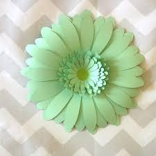 mint green flowers gerber wall decals mint green paper wall flower