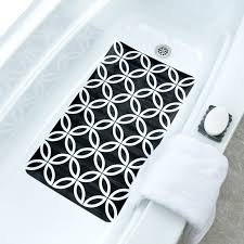 contemporary black u0026 white geometric circles bath mat pattern