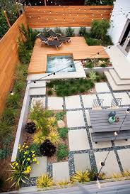 small yard design with cozy dining set and mini garden for outdoor