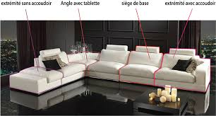 assise canape canapé sur mesure en cuir vachette canapé gamme canapé d angle