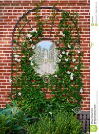 style garden with wall trellis u2013 outdoor decorations