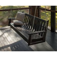 jack post jennings 4 ft traditional wood porch patio swing h 24