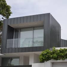 single lock standing seam copper design cladding house