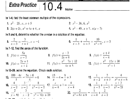 solving rational expressions worksheets