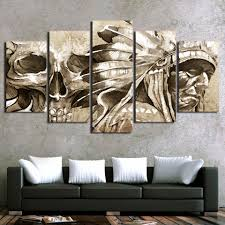 online buy wholesale american indian painting from china american canvas wall art pictures framework home decor living room poster 5 pieces american indian portrait modern