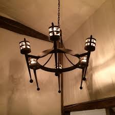 Wrought Iron Chandelier Uk Hand Forged Wrought Iron Aldwick Smooth Point And Ball 6 Light