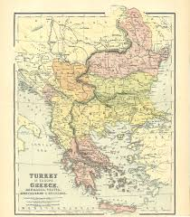 Greece Turkey Map by Map Of Turkey In Europe Greece Roumania Servia Montenegro