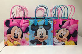 mickey mouse favor bags disney mickey and minnie mouse party favor goodie