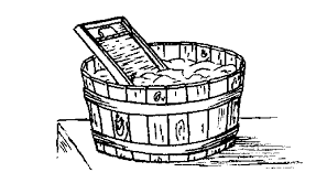 Washing Machine Coloring Page - wash tub clipart 13