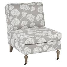 armless chair and ottoman set pink accent chair overstock chairs side for living room office