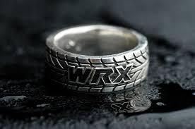 sti wedding ring made wrx tire tread ring customizable by rock my world inc