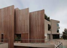 curved wood wall wall of wood acoustics meet aesthetics at house in pedralbes