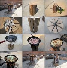 Goods Home Design Diy Diy Natural Log Stove Home Design Garden U0026 Architecture Blog