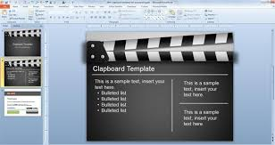 movie powerpoint template free clapboard powerpoint template free