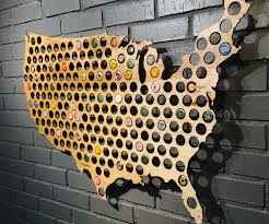United States Map Wall Art by Wooden Beer Cap Maps 241135