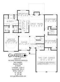 Traditional Floor Plan Camden House Plan House Plans By Garrell Associates Inc
