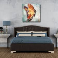 bedroom painting brush wall pictures modern decoration wall art