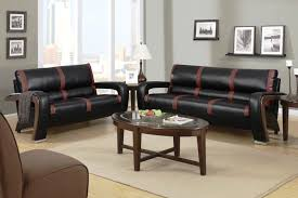 Black Microfiber Loveseat Leather Sofa And Loveseat Set House Decorations And Furniture