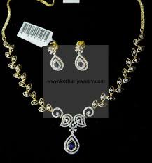 jewelry diamonds necklace images Diamond necklace 18kt indian diamond bridal necklace with jhumki jpg
