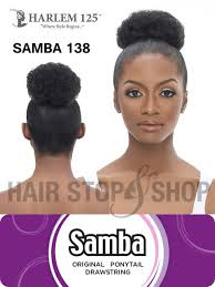 afro puff pocket bun hairstyles harlem 125 samba 136 ponytail draw string