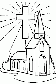 free coloring pages church coloring