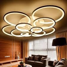 In Ceiling Lights Acrylic Ring Led Ceiling Lights Living Room Bedroom L Dimmable