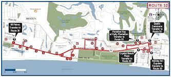 Florida Map Destin by Destin Route 32 Ec Rider