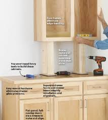 how to build base cabinets with kreg jig 25 easy diy kitchen cabinets with free step by step plans