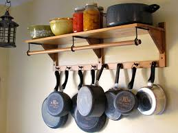 kitchen light wooden pots and pans rack design ideas for kitchen