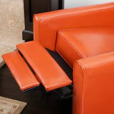 Orange Leather Chair Best Selling Davis Leather Recliner Club Chair Best Recliners