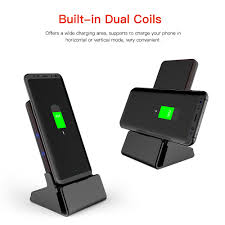 charge your phone universal built in cooling fan dual coils qi fast wireless charger