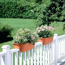 deck rail planter alfresco rectangular rail planter and rail