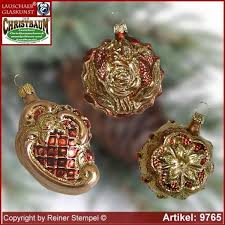 tree ornaments baroque forms set 3 pc glass figure glass shape
