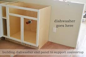 base cabinet for dishwasher dishwasher end panel ana white woodworking projects