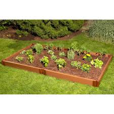 composite landscape timbers composite raised garden bed 4 u0027 x 8 u0027 eartheasy com