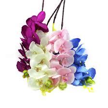 8pcs artificial fake flower butterfly orchid silk flower home