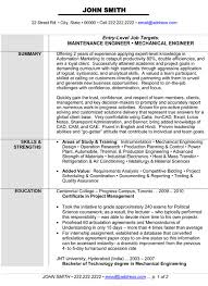 Sle Resume For Mechanical Engineer Resume For Fresh Mechanical Engineer Sales Mechanic Lewesmr