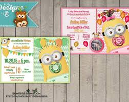 minions baby shower minion baby shower etsy